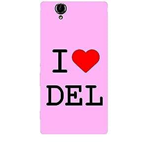 Skin4gadgets I love Delhi Colour - Light Pink Phone Skin for XPERIA T2 ULTRA