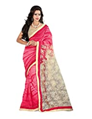 Shree Sanskruti Self Design Bollywood Georgette Sari