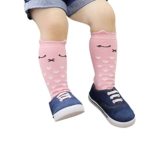Urparcel Kids Knee Highs Socks Baby Socks Cotton Cute Toddler Straight Stocking