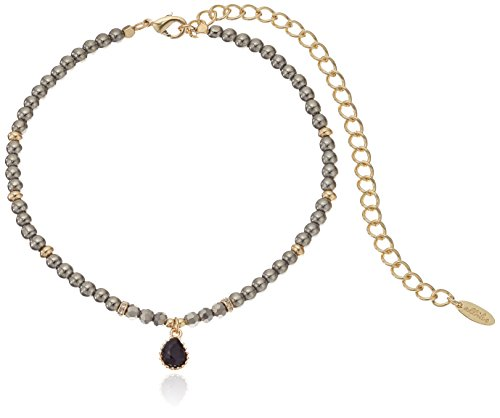 """Ettika Through The Looking Glass in Pyrite and Gold Choker Necklace, 10.5"""" + 5"""" Extender"""