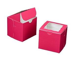 Amazon.com: Dress My Cupcake Square Window Cupcake Box