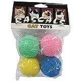 80045R Sponge Balls 4Pk Cat by Coastal Pet Products