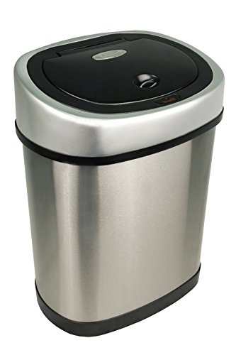 Nine Stars Motion Sensor Stainless Steel Trash Can, 3.2 gallon
