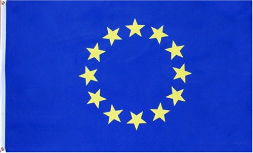 EU (European Union) Flag - 3 foot by 5 foot Polyester (NEW)