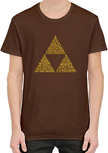Legend Of Zelda Typography T-Shirt per Uomini XX-Large