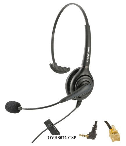 Cisco Ip Phones Compatible Call Center Headset With Noise Cancellation And Quick Disconnect Cords