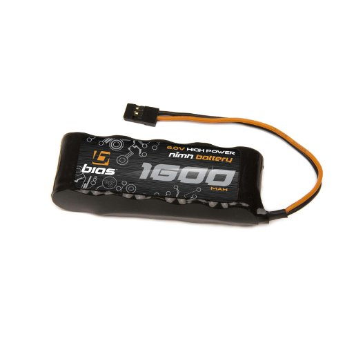 Bias 6V 1600mAh Flat Receiver NiMH Battery for RC Car, Quadcopter, Drone