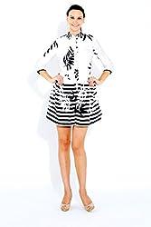 Naomi Code Women Pleated Shirt Dress