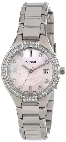 Pulsar Three-Hand with Swarovski® Crystal Stainless Steel Women's watch #PH7289