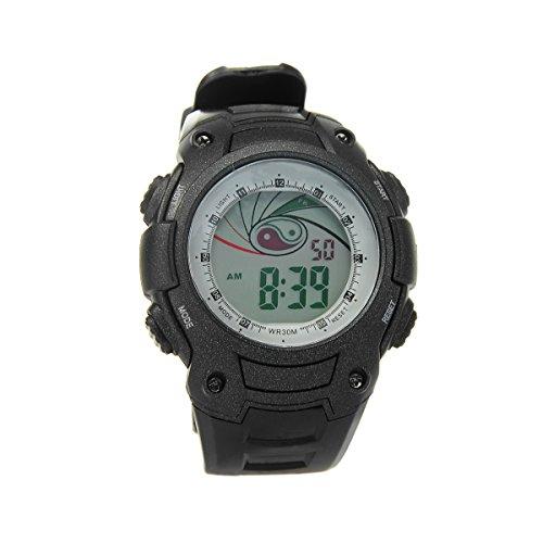 8Years - 1 Digitaluhr Armbanduhr Watch Jungen Stoppuhr Wasserdicht Schwarz