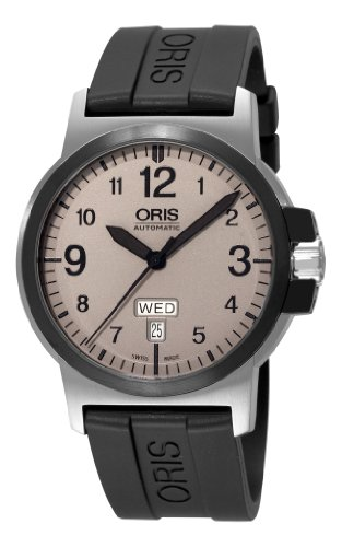 Oris Men's 73576414361RS BC3 Sportsman Day Date Grey Dial Watch