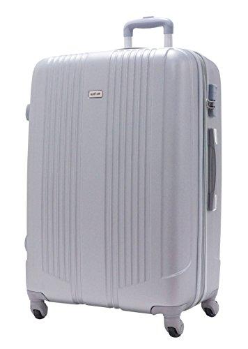 Valigia di Grandi Dimensioni 75 centimetri - ALISTAIR Airo - ABS ultra leggero - 4 ruote - Argento