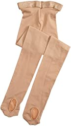 Capezio Girls 7-16 Ultra Soft Transition Tight,Caramel,One Size (8-12)