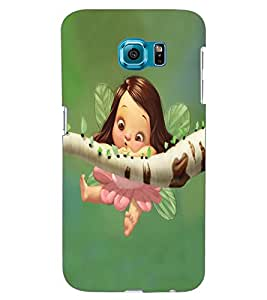 ColourCraft Cute Baby Angel Design Back Case Cover for SAMSUNG GALAXY S6 EDGE G925