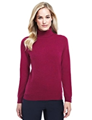 M&S Collection Pure Cashmere Roll Neck Jumper