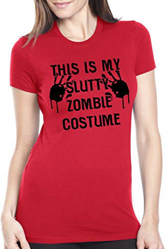This is my Slutty Zombie Costume T Shirt Women's Halloween Costume Tee