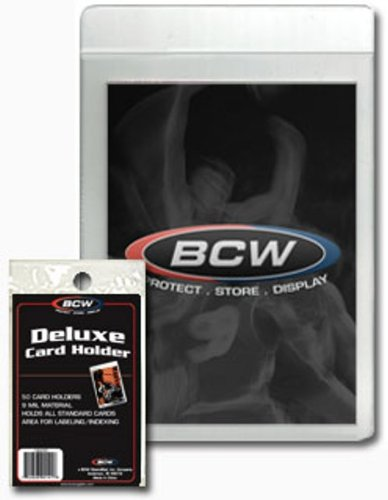 BCW Supplies Semi-Rigid Deluxe Card Holder (50 Count Pack) - 1