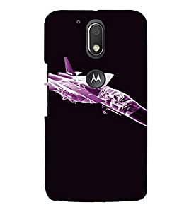PrintVisa Fighter Plane Design 3D Hard Polycarbonate Designer Back Case Cover for Motorola Moto G4 Plus