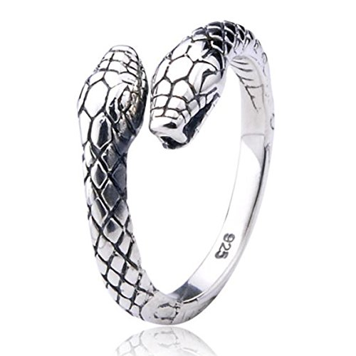 Snake Ring in 925 Sterling Silver by Silver Phantom Jewelry - Large (Snake Ring Sterling Silver compare prices)