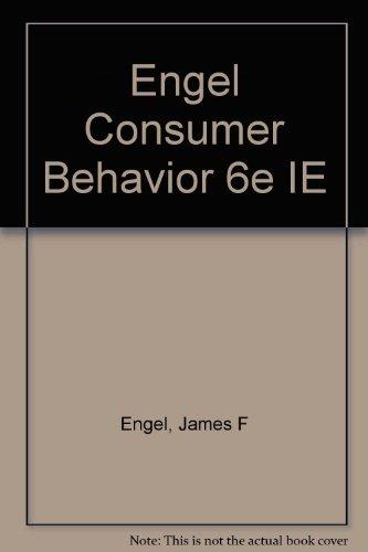 Engel Consumer Behavior 6e IE