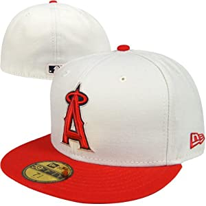 Los Angeles Angels of Anaheim New Era MLB Fitted Logo Hat 7 3 8 by New Era