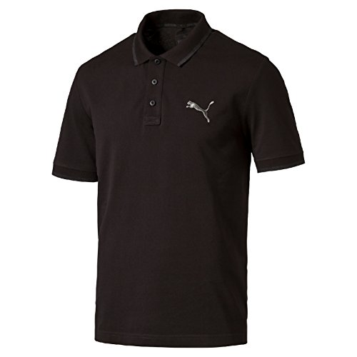 PUMA T-shirt da uomo Hero Polo, Black-MGH, L, 838303 01