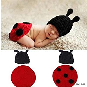 Amazon.com: Joy Baby Ladybug Costume Handmade Crochet Knit Photo Prop