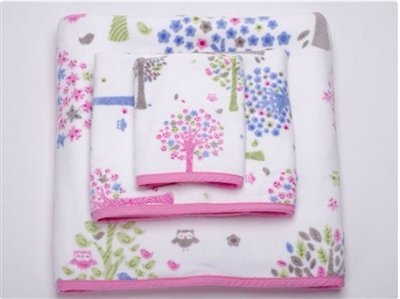 "Bambini ""Merry Meadow"" by Kassatex 3 pc. Towel Set"