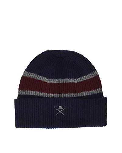 Hackett London Gorro Lana Central Reg Hat Azul Oscuro