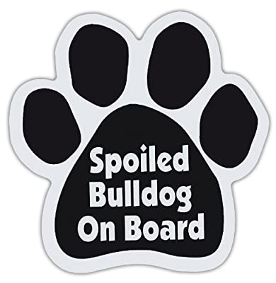 Imagine This Paw Car Magnet, Spoiled Bulldog on Board, 5-1/2-Inch by 5-1/2-Inch