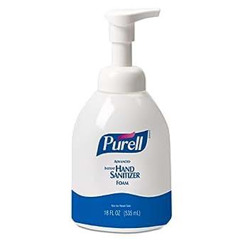 PURELL 5792-04 Advanced Instant Hand Sanitizer Foam, 535 mL Pump Bottle (Case of 4)