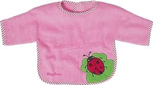 Playshoes 507463 - Babero de manga larga, diseño de mariquita, 39 x 30 cm, color rosa por Playshoes