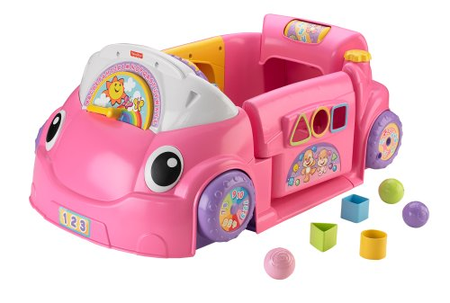 Fisher-Price Laugh & Learn Smart Stages Crawl Around Car (Pink) - 1