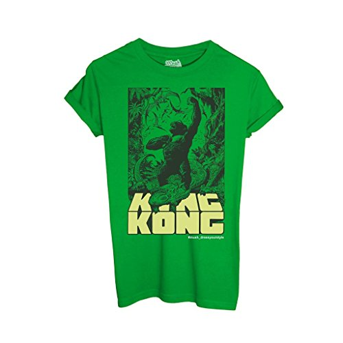 T-Shirt KING KONG - FILM by iMage Dress Your Style - Donna-S-VERDE PRATO