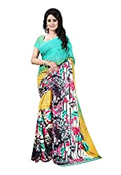 Bansy Fashion Multi Coloured Georgette Printed Saree