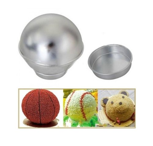 Autek 3D Sport Aluminum Ball Sphere Cake Pan Baking Mold Bakeware Tin Kitchen Mould(3DMold-80) (Half Sphere Cake Pan compare prices)
