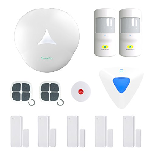 Golden Security PSTN & Wireless network wifi 2-in-1 portable auto dialer diy Home Alarm System S3-A