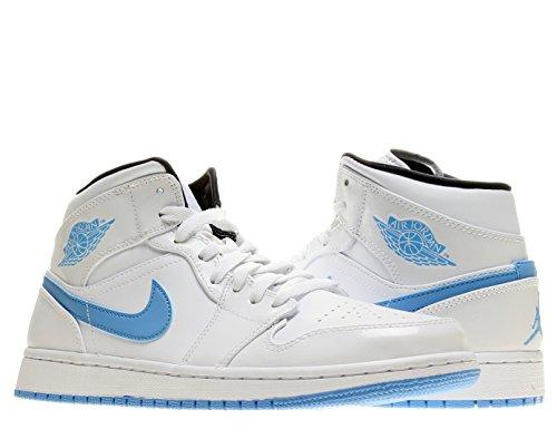 064b0e837bf930 ... cheap nike jordan mens air jordan 1 mid white legend blue black  basketball shoe 10 c2ac5