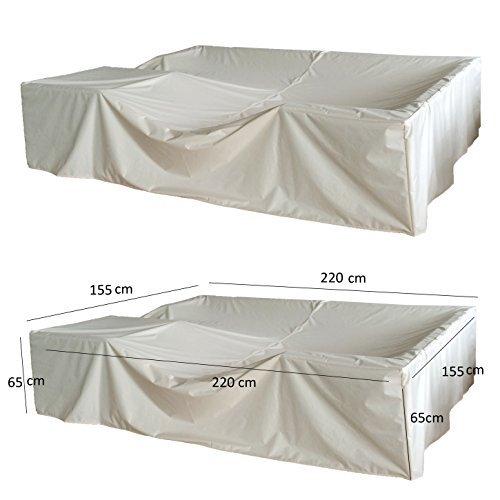 (6034)Schutzhülle 220x155cm Abdeckung Abdeckhaube für Rattan Gartenmöbel Abdeckplane günstig online kaufen