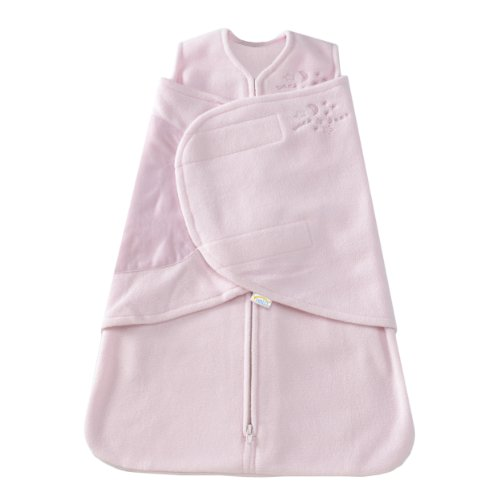 HALO SleepSack Micro-Fleece Swaddle, Soft Pink, Small - 1