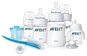 Philips AVENT BPA Free Classic Infant Starter Gift Set, Pack of 2