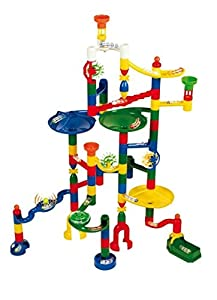 Marbulous-translucent Marble Run (121 Pieces Plus 20 Marbles)