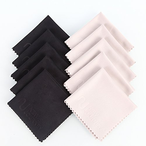 New Journey Microfiber Cleaning Cloths - For All LCD Screens, Tablets, Lenses, and Other Delicate Surfaces (5+5black) (Sweeper Tablets compare prices)