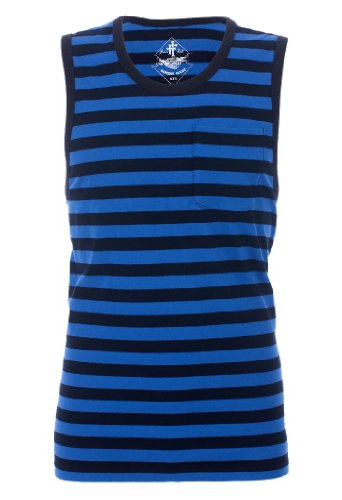 Iron Fist Mens Stripes Tank Top Vest (Large)