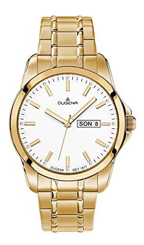 Dugena Hombre Reloj de pulsera analógico cuarzo, revestimiento de acero inoxidable 4460562