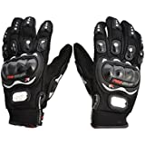 Benjoy Pro Biker Bike Riding Full Gloves (Size XXL ,Colour BLACK) For Honda Dream Neo