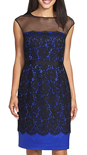 Smss Women'S Sexy Lace Patchwork Belted Backless Mid Dress
