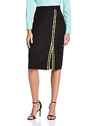 People Women's Body Con Skirt (P20401065122100_Black_XX-Large )