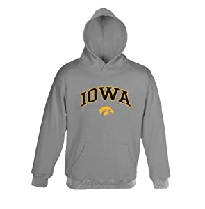 Iowa Hawkeyes Genuine Stuff Grey Mens Hooded Sweatshirt by Genuine Stuff