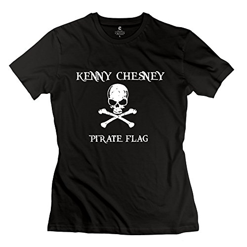 AOPO Kenny Chesney Pirate Flag Tshirts For Women